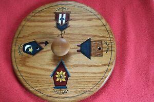 "11"" Measuring Lid for Longaberger Basket, handmade of oak & handpainted birdhous"