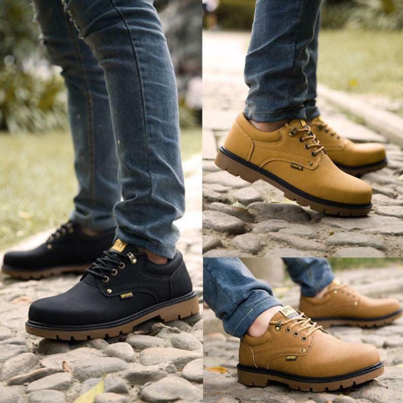 Fashion Men Casual Oxfords Lace Up Waterproof work hiking Boots Outdoor shoes Sz