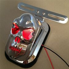 Motorcycle Chrome Red Skull Brake Tail Light Signal For Harley Davidson Bike