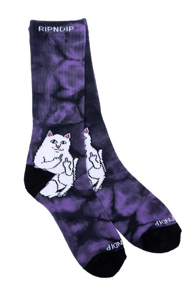 RIPNDIP Lord Nermal Socken Lavender Tie Dye / Socken 1 Paar (2stk)unisex onesize