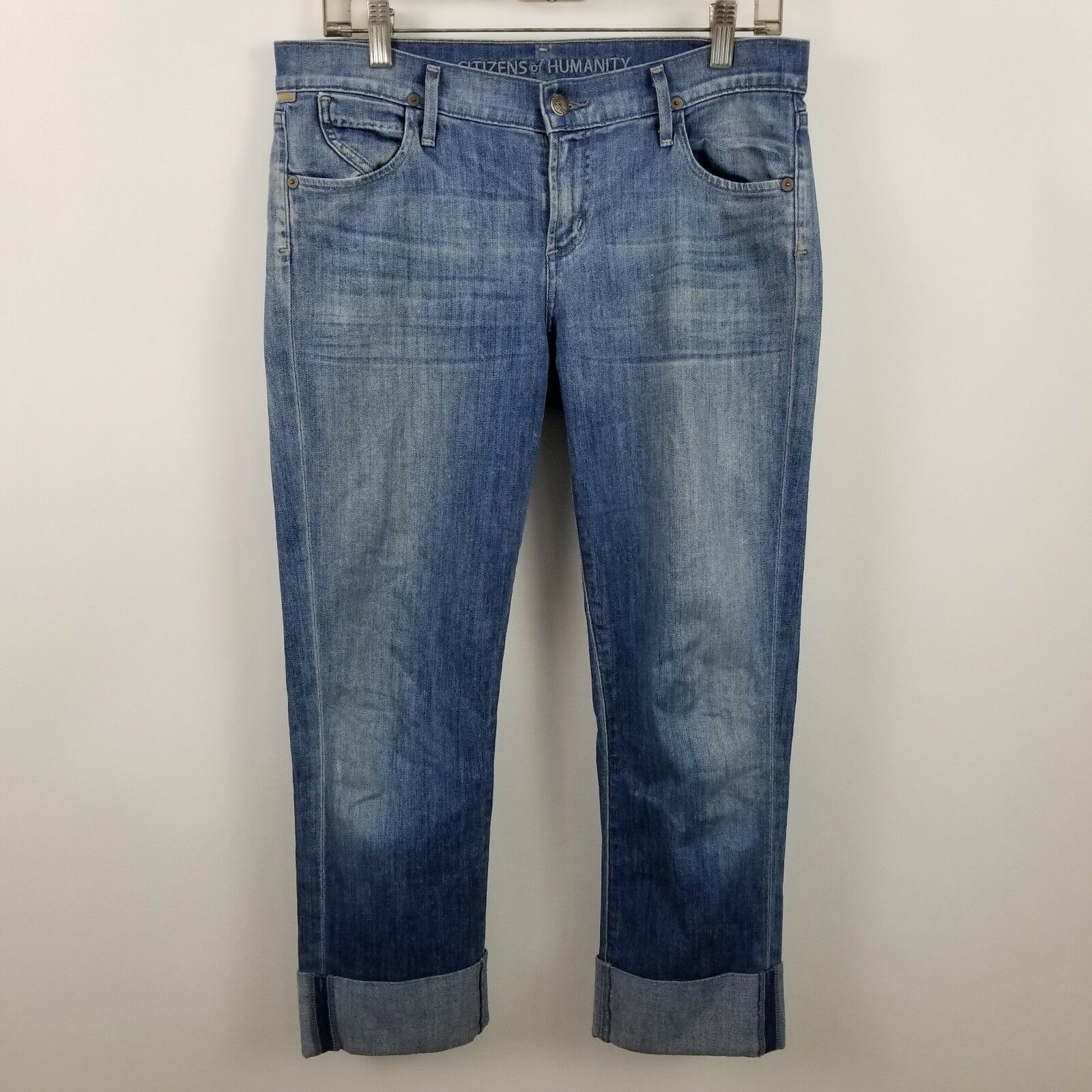 Citizens Of Humanity Dani Cropped Straight Leg Womens bluee Jeans Size 29