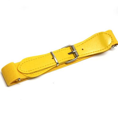 Boys Girls Kids Children Elastic Adjustable Waist Belts