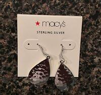 Macy's Sterling Silver Earrings Msrp $80.00