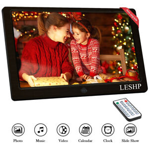 10'' LCD Digitaler Foto Bilderrahmen Album Wecker MP3 MP4 Filme Video Player 1B