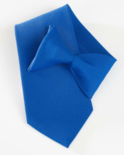 CT01 Yoko Clip Sur Cravate Noir Bleu Marine Hommes Femmes Sécurité Gardiennage Travail Enterrement
