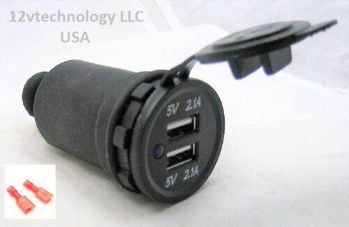 Nouveau Smart haute puissance 4.2 Amp USB Rapide Chargeur Prise de courant étanche 12 V avec Boot