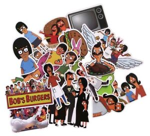 Bobs Burgers Cartoon Stickers Assorted Lot of 21 Stickers