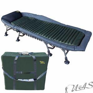 Delta-Fishing-XL-Luxus-8-Bein-Aluminium-Karpfenliege-amp-Transport-Tasche-Sha
