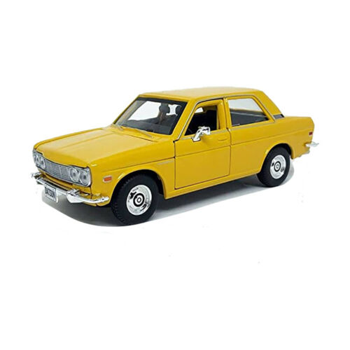 ° Maisto 31518 Datsun 510 amarillo escala 1:24 maqueta de coche nuevo