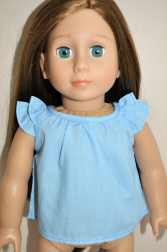 Doll Clothes I8 Inch American Girl Dolls Our Generation Cotton Ruffle Sleeve Top
