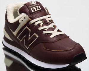 New-Balance-574-Hommes-Nouveau-chaud-marron-voile-Blanc-Casual-Lifestyle-Shoes-ML574-WND