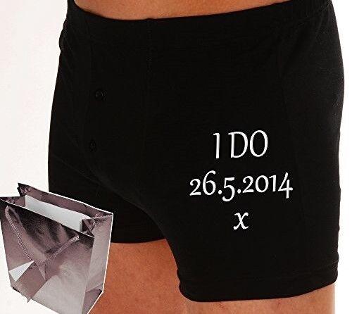 Personnalisé Boxer Shorts Coton Mariage Anniversaire 2 ans Down Forever pour aller!