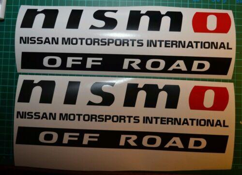2 x Nissan Navara side Nismo 4x4 Off Road decals Stickers