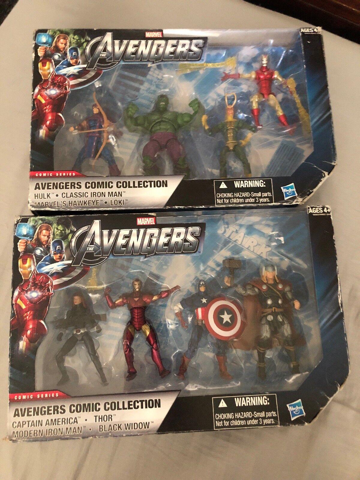 Colección de cómics Marvel Universe Vengadores Figura 2 conjuntos de Walmart Exclusive