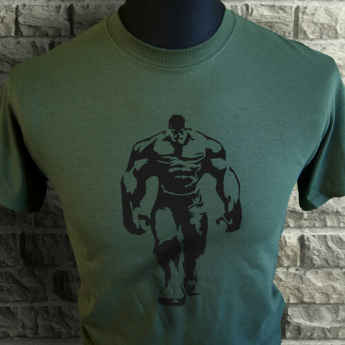 Herren Hulk Style T-Shirt Training Käfig Training Bodybuilding Motivational grn