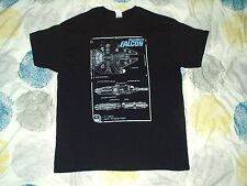 T Shirt Star Wars The Millennium Falcon Blueprints Black Large