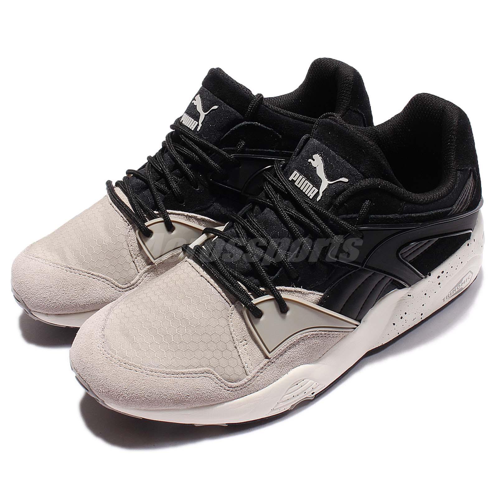 Puma Trinomic Blaze Winter Tech Trainers Black Beige Men Running Shoes 361341-02