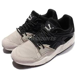 Puma Trinomic Blaze Winter Tech Trainers Black Beige Men Running Shoes 361341 02