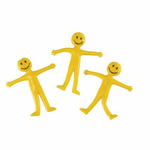 Bendy Flexible Smiley Man 6cm Pocket Money Stocking Filler Kids Toys Games
