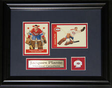 Jacques Plante Montreal Canadiens 2 Card Frame