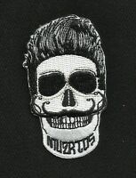 MUERTOS Day of the Dead Rockabilly SKULL Iron On Motorcycle MC Biker Patch
