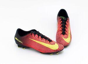 Details Zu Nike Mercurial Outdoor Fussballschuhe Synthetik Orange Schwarz Gr 43