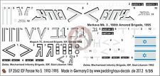 Peddinghaus 1/35 IDF Merkava Mark III, Magach 7C Tank & M113 Zelda Markings 2562