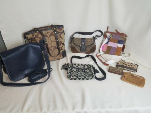 Coach Lot of 8 Vintage Shoulder Bags Messenger Han
