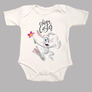 Happy Easter Baby Grow Body Suit Vest Funny Cute Bunny Rabbit Gift