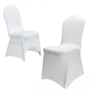 Cool Details About New 100Pcs Universal Polyester Spandex Wedding Chair Covers White Or Black Frankydiablos Diy Chair Ideas Frankydiabloscom