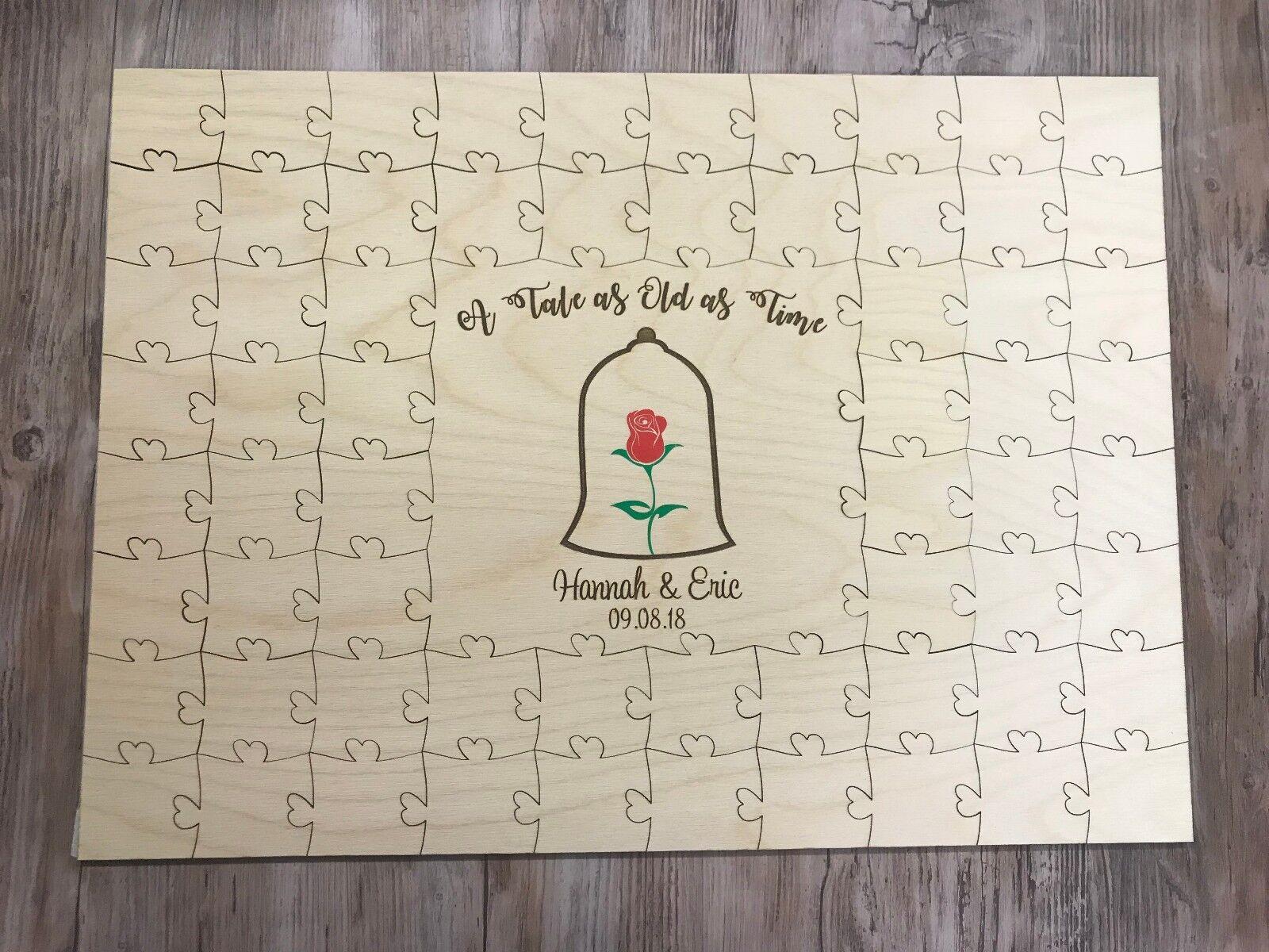 Personalised Beauty & the beast piece jigsaw puzzle keepsake wedding gift