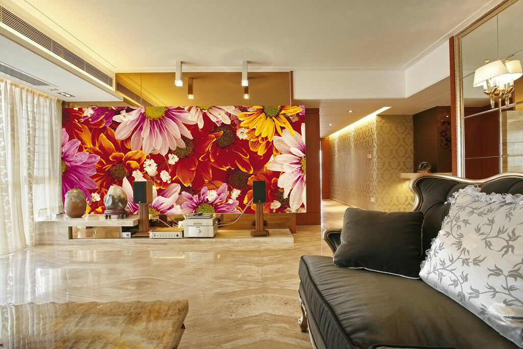 3D Blooming Flowers  65 Wall Paper Wall Print Decal Wall Deco Indoor Mural Carly