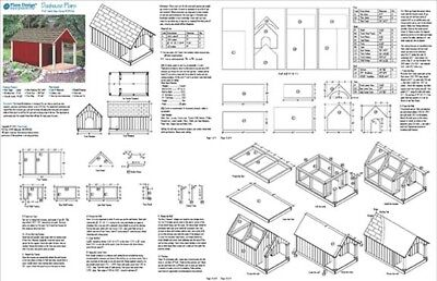 Gable Roof Style With Porch Dog House Project Plans, Design # 90305G