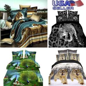 3D-Fiber-Duvet-Cover-Print-Pillow-Case-Bed-Sheets-Animal-Design-Bedspread-Tiger