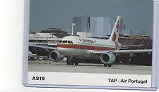 TAP air Portugal airlines A319 Airbus Deutschland pub. cont/l  postcard