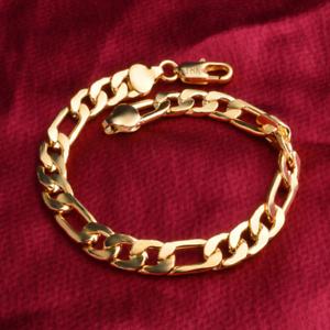 Luxury-Men-Women-Stainless-Steel-Gold-Plated-18K-Rings-Bangle-Chain-Bracelet-New