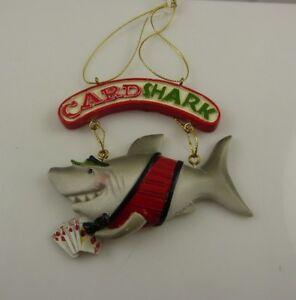 Card-Shark-Royal-Flush-Christmas-ornament-Kurt-S-Adler-Poker-Casino-Gambler