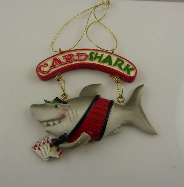 Card Shark Royal Flush Christmas ornament Kurt S. Adler Poker Casino Gambler