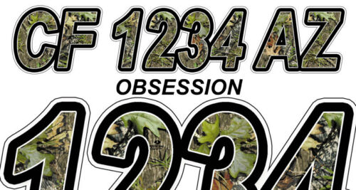 Obsession Custom Boat Registration Numbers Decals Vinyl Lettering Stickers USCG