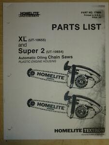 homelite xl ut 10655 super 2 ut 10654 chain saw parts list manual rh ebay com