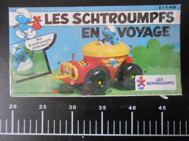 ˚。Trattore Les Schtroumpfs Voyage Smurf Schlumpfs Puffi Pitufos Sealed 。˚