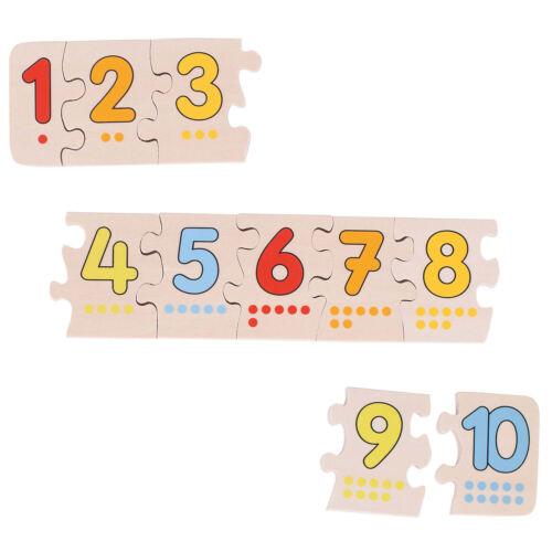 Holzspielzeug Puzzle 10 Teile Holzspielzeug goki Puzzle mit den Zahlen von 1 bis 10 WB013