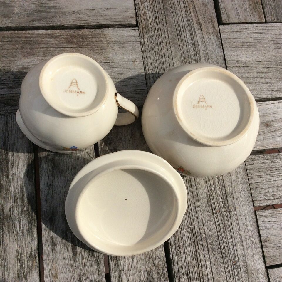 Porcelæn, Sukker flødesæt, ALUMINIA Anne Sofie