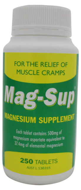1 x Mag Sup High Potency Magnesium Supplement (250 Tablets) SAME AS Mag Min