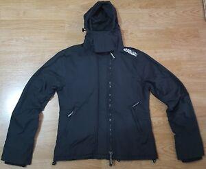 Jacket L Superdry Hooded Coat Windcheater Black Størrelse Professional Ladies 8wqHEgwr