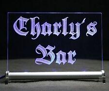 BAR LED LEUCHTSCHILD Barschild Text Ihrer Wahl - Geschenkidee PUB SPORTSBAR