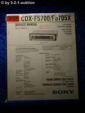 Sony Service Manual CDX F5700 /F5705X CD Player (#4124)