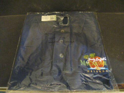NWT Margaritaville Jimmy Buffett/'s Parrothead Polo Shirt Small Orlando Navy Blue