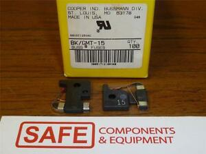 BK/GMT-15A Bussmann Indicating Fuse Fast Acting 15A 125V QTY-100/Case NEW  J35