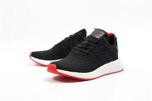 Men-039-s-Adidas-NMD-R2-BA7252-Primeknit-Core-Black-Core-Red-SZ-7-13-DS-BOOST-BNIB